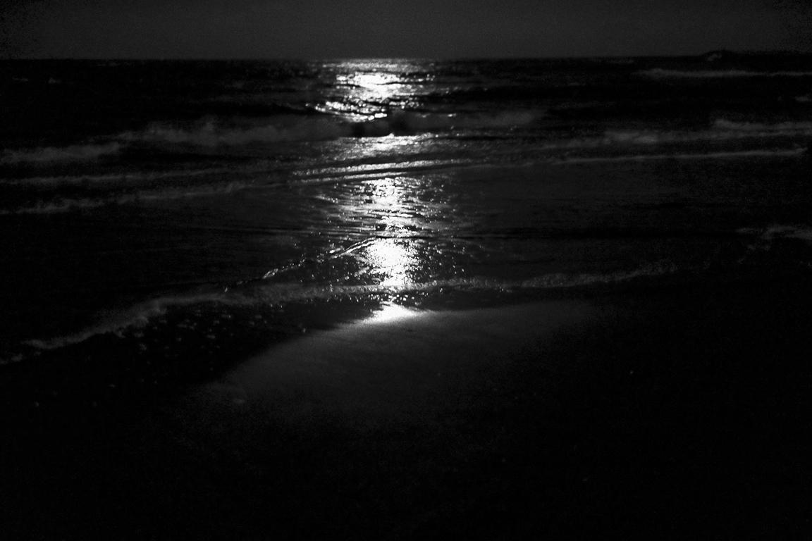 Beach in black