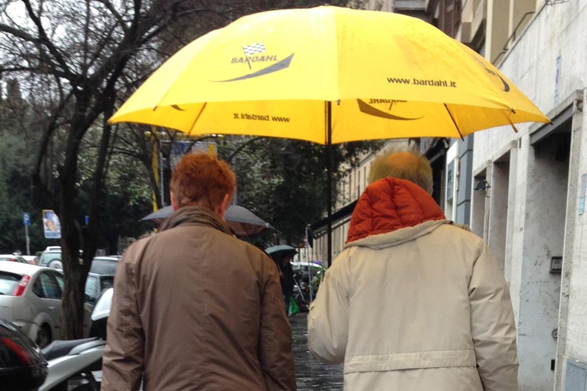 Walking in the rain…