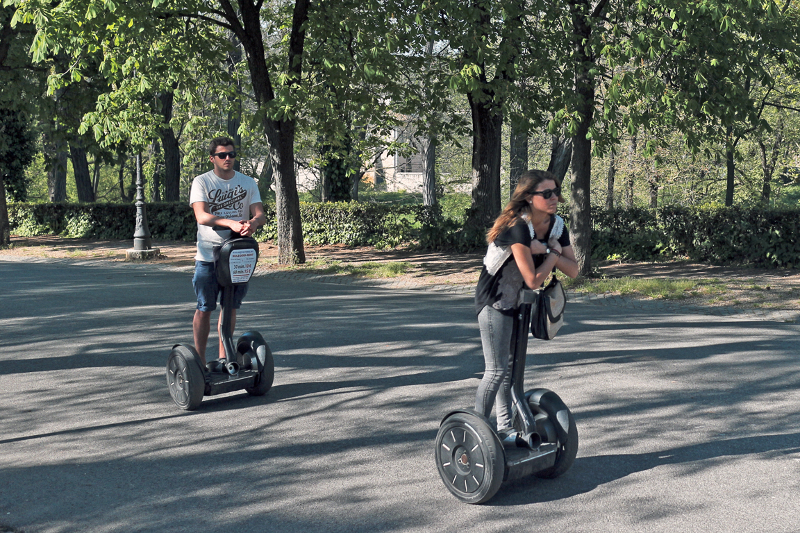 Segway Chase in Villa Borghese