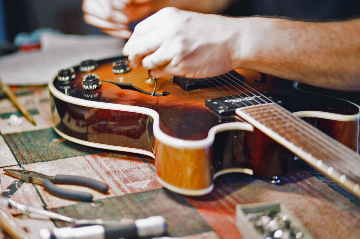 A Master Luthier in his lab…
