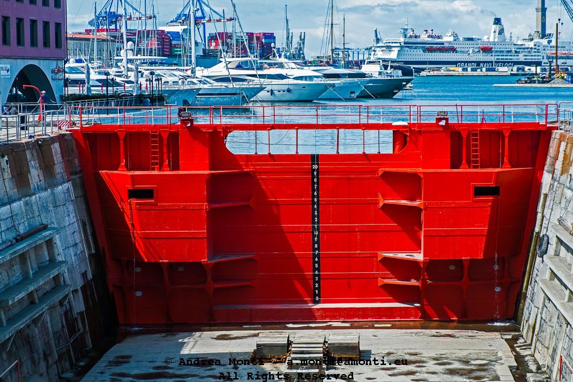 Red Lock At Genova's Dock Arsenal