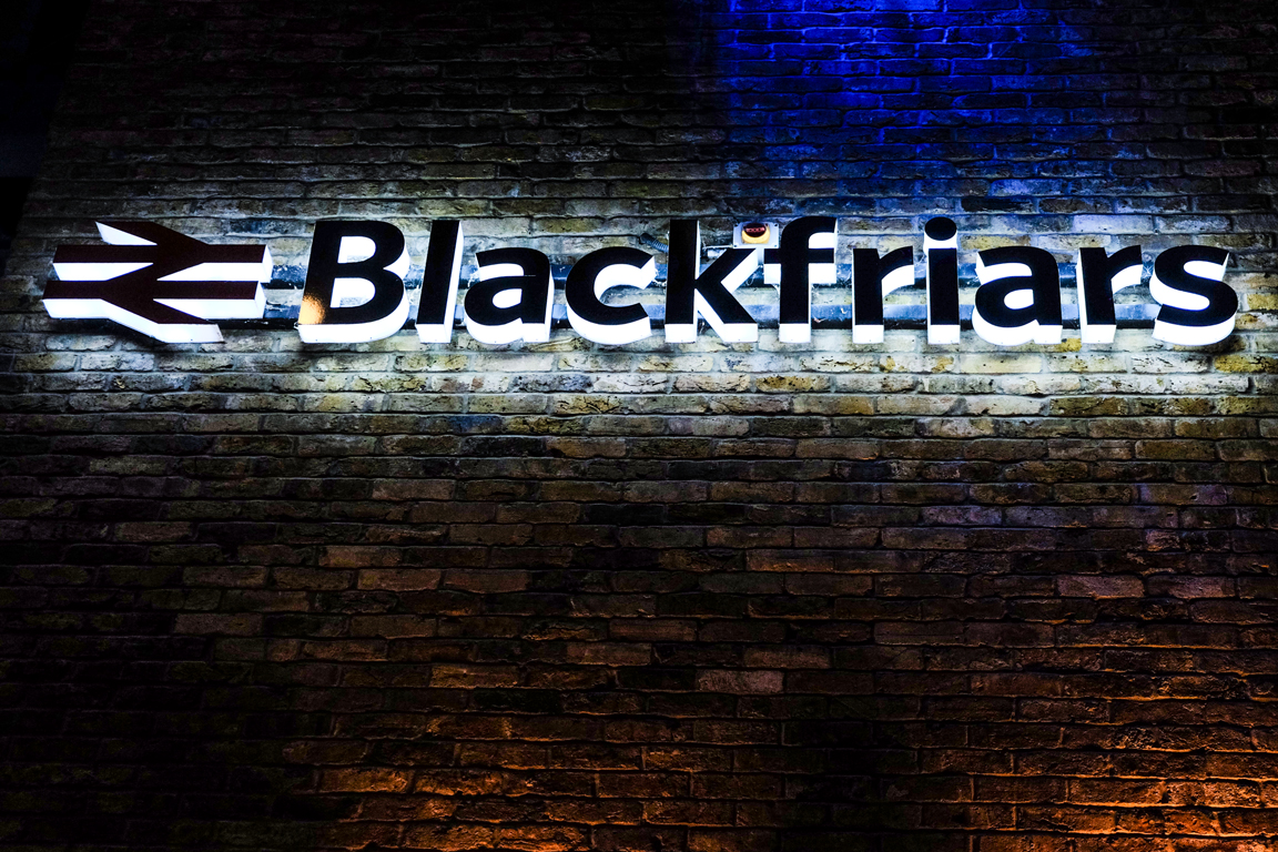 Blackfriars Train Station Banner