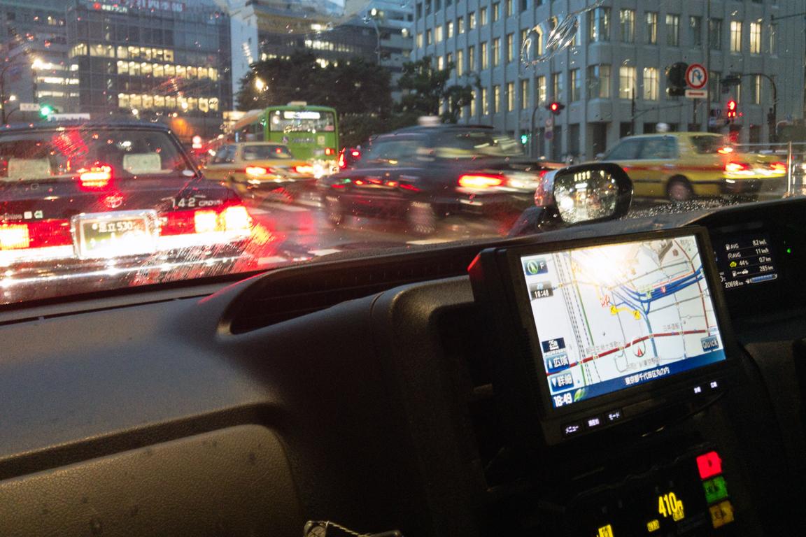 Driving Around a Rainy Tokyo