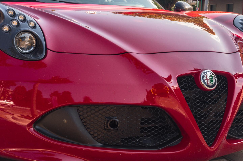 Close Up of an Alfa Romeo 4c