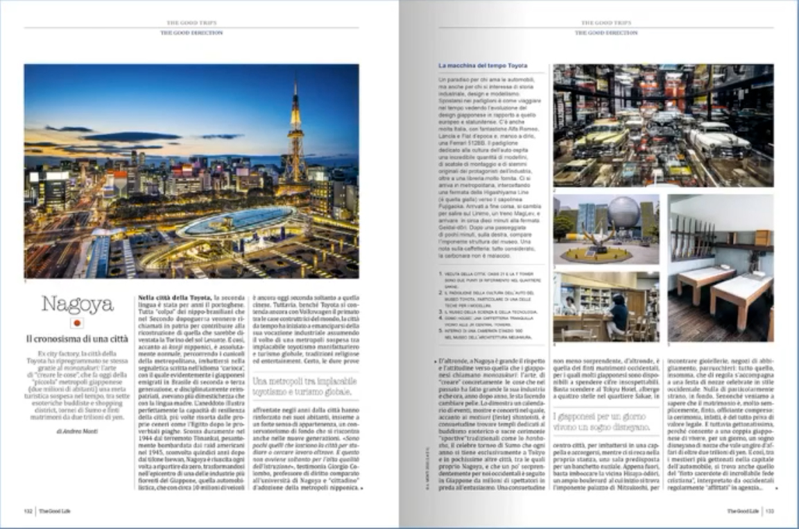 Nagoya's reportage featured in The Good Life