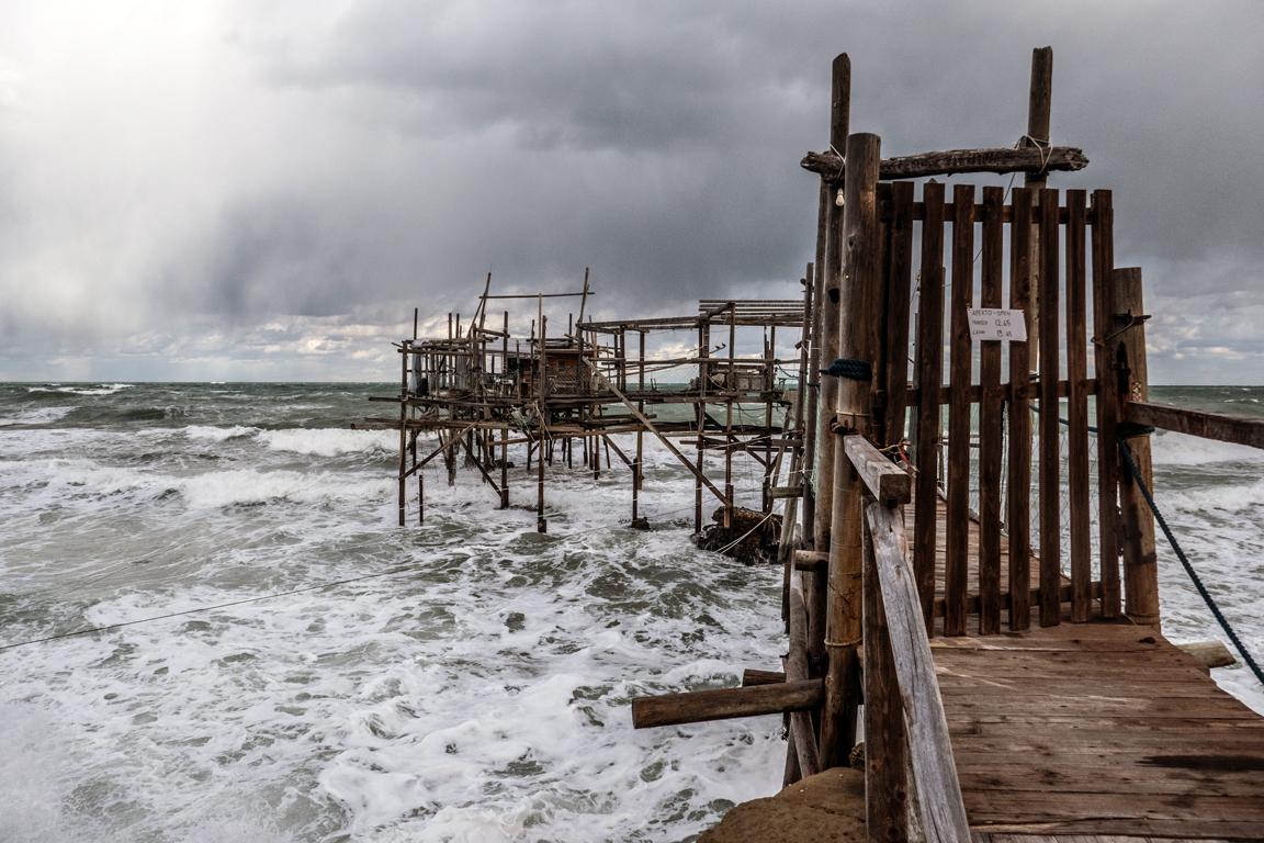 A 'Trabocco' on the Adriatic Sea